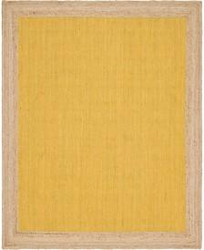 Bridgeport Home Braided Jute A Bja4 Yellow 8' x 10' Area Rug