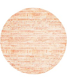 Haven Hav2 Orange 8' x 8' Round Area Rug