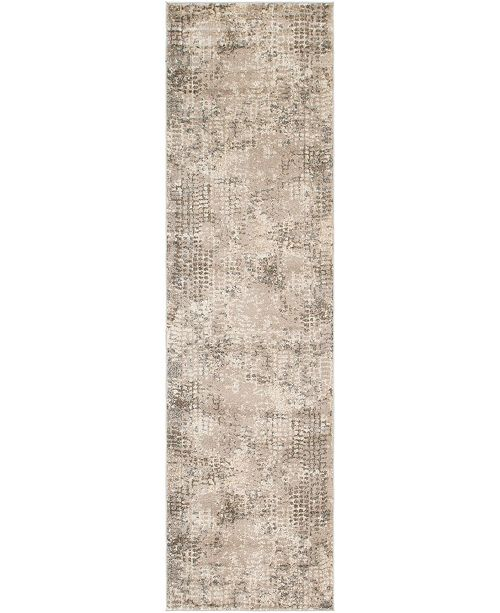 "Bridgeport Home Crisanta Crs4 Gray 2' 7"" x 10' Runner Area Rug"