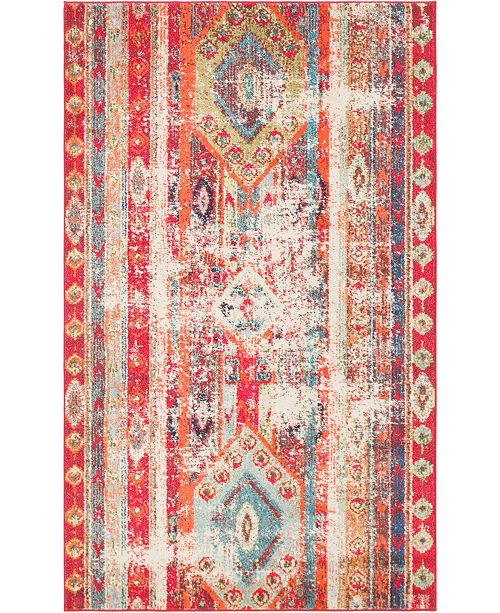 Bridgeport Home CLOSEOUT! Arcata Arc1 Fuchsia 5' x 8' Area Rug