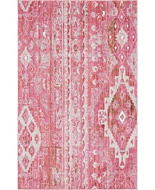 Bridgeport Home Nira Nir2 Pink 5' x 8' Area Rug