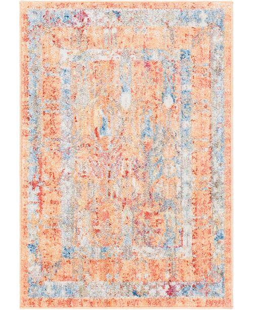 "Bridgeport Home Zilla Zil2 Orange 2' 2"" x 3' Area Rug"