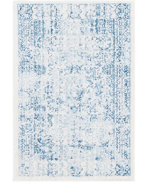 """Bridgeport Home Zilla Zil3 Light Blue 2' 2"""" x 3' Area Rug"""