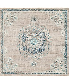 Lorem Lor1 Gray 8' x 8' Square Area Rug