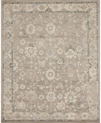 Lorem Lor3 Light Brown 9' x 12' Area Rug