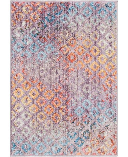"Bridgeport Home Prizem Shag Prz2 Lilac 2' 2"" x 3' Area Rug"