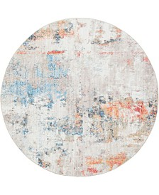 Bridgeport Home Prizem Shag Prz3 Multi 6' x 6' Round Area Rug