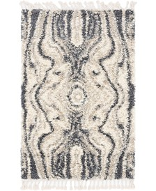 Bridgeport Home Lochcort Shag Loc4 Gray 4' x 6' Area Rug
