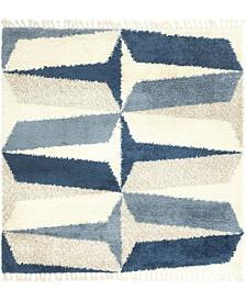 Bridgeport Home Lochcort Shag Loc6 Blue 8' x 8' Square Area Rug