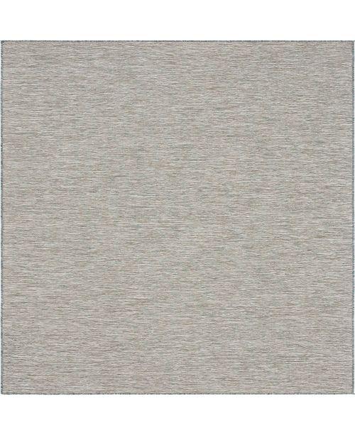 """Bridgeport Home Pashio Pas8 Light Gray 10' 2"""" x 10' 3"""" Square Area Rug"""