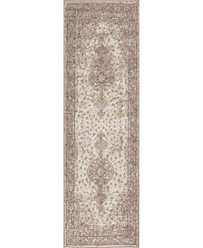 "Bridgeport Home Mobley Mob1 Light Brown 2' x 6' 7"" Runner Area Rug"