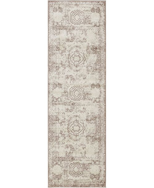 "Bridgeport Home Mobley Mob2 Light Brown 2' x 6' 7"" Runner Area Rug"
