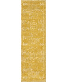 "Mobley Mob2 Yellow 2' x 6' 7"" Runner Area Rug"