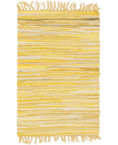 "Bridgeport Home Jari Striped Jar1 Yellow 2' 2"" x 3' Area Rug"