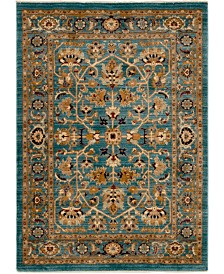 Bridgeport Home Thule Thu1 Turquoise 4' x 6' Area Rug
