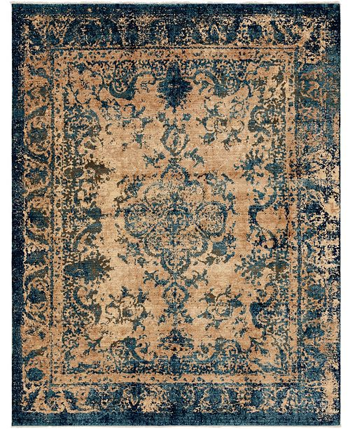 Bridgeport Home Thule Thu3 Blue 9' x 12' Area Rug