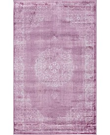 "Bridgeport Home Anika Ani1 Violet 3' 3"" x 5' 3"" Area Rug"