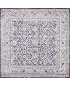 Anika Ani2 Gray 8' x 8' Square Area Rug
