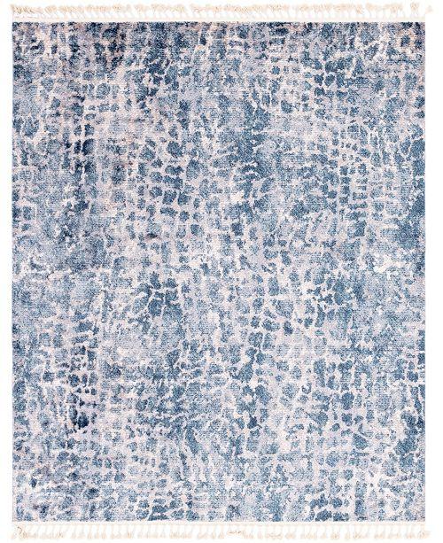 "Bridgeport Home Levia Lev3 Blue 8' 2"" x 10' 2"" Area Rug"