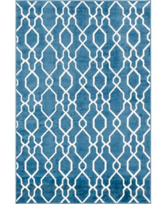 Pashio Pas8 Blue 4' x 6' Area Rug