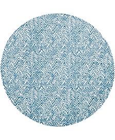 Bridgeport Home Pashio Pas8 Blue 8' x 8' Round Area Rug