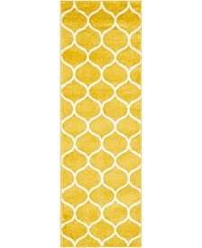 Plexity Plx2 Yellow 2' x 6' Runner Area Rug