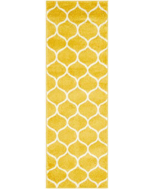 Bridgeport Home Plexity Plx2 Yellow 2' x 6' Runner Area Rug
