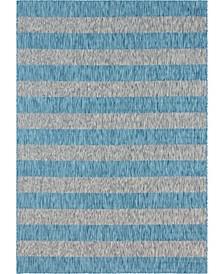 """Pashio Pas7 Light Aqua 8' x 11' 4"""" Area Rug"""