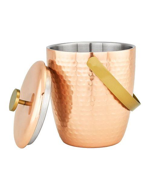 Old Dutch International Aura Hammered Copper Double Walled Ice Bucket, 2.3-Quart