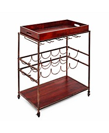 "International ""Avalon"" Wine and Serving Cart Antique Copper"