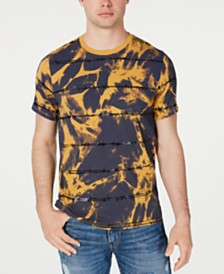 GUESS Men's Barbed Wire Tie Dye T-Shirt