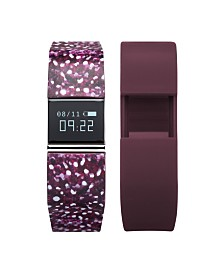 iFitness Activity Tracker with Wine Printed Strap and Bonus Wine Strap