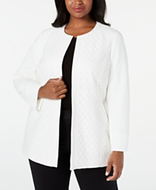 Kasper  Plus Size Diamond Lace Jacket