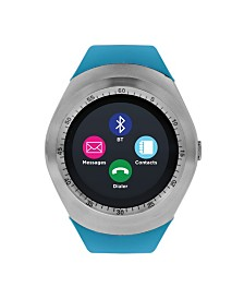 iTouch Curve Smartwatch Silver Case with Turquoise Strap