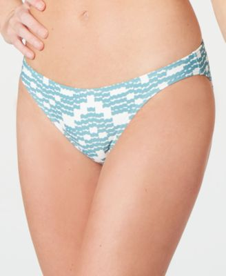 Zigzag Wave Printed Hipster Bikini Bottoms