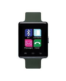 iTouch Air Smartwatch 45mm Gunmetal Case with Olive Strap