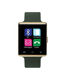 iTouch Air Smartwatch 41mm Gold Case with Olive Strap