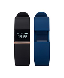 iFitness Activity Tracker with Black Strap and Bonus Navy Strap