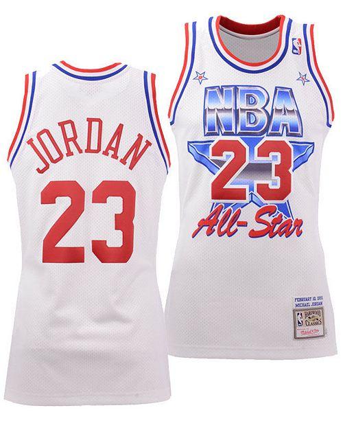 official photos 099bc 03fd4 Men's Michael Jordan Chicago Bulls 1991 NBA All Star Authentic Jersey