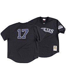 Mitchell & Ness Men's Todd Helton Colorado Rockies Authentic Mesh Batting Practice V-Neck Jersey