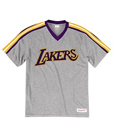 66be4335c5ac Mitchell   Ness Men s Los Angeles Lakers Overtime Win V-Neck T-Shirt