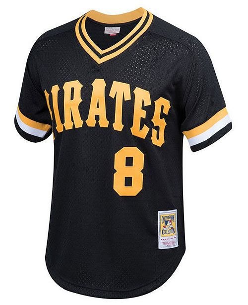new product 7a056 b5acb Big Boys Willie Stargell Pittsburgh Pirates Mesh V-Neck Player Jersey