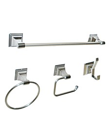 Arista Leonard 4-Pc. Set Chrome Finish