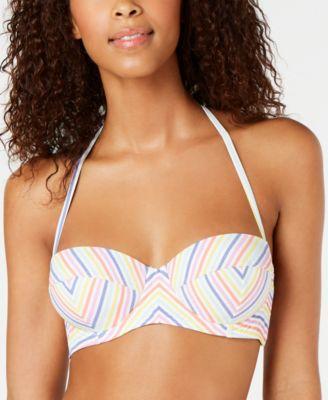 Beach Stripe Printed Halter Underwire Bikini Top