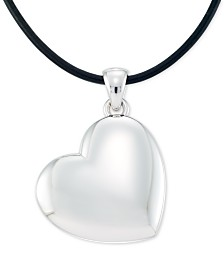 """Signature Gold Diamond Accent Heart 18"""" Pendant Necklace, Created for Macy's"""