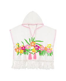 Masala Baby Girls Hooded Caftan Orchid Blooms