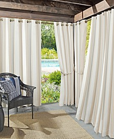 "Valencia 54"" x 95"" Cabana Stripe Indoor/Outdoor UV Protectant Curtain Panel"