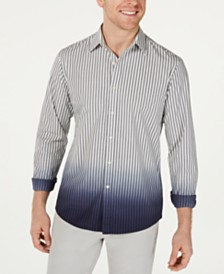 Michael Kors Men's Slim-Fit Dip-Dyed Stripe Shirt