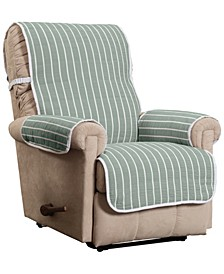 Harper Striped Recliner Furniture Cover Slipcover
