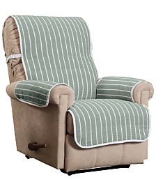 P/kaufmann Home Harper Striped Recliner Furniture Cover Slipcover